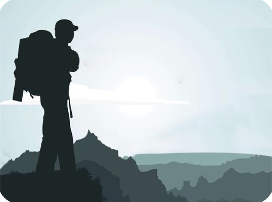 uomo sulla montagna studio centro naturale naturopatia